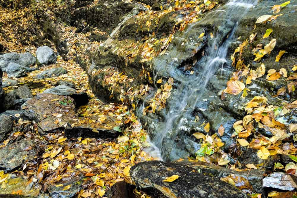 March Cataract Falls in the fall