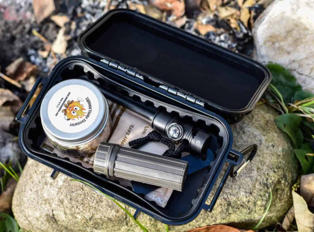 Detail shot of the Stormproof Firestarter Kit by Adventure Frog