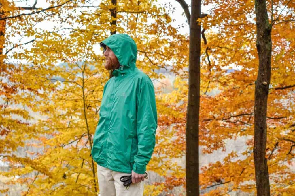 Profile view of the My Trail Storm UL Jacket Men's