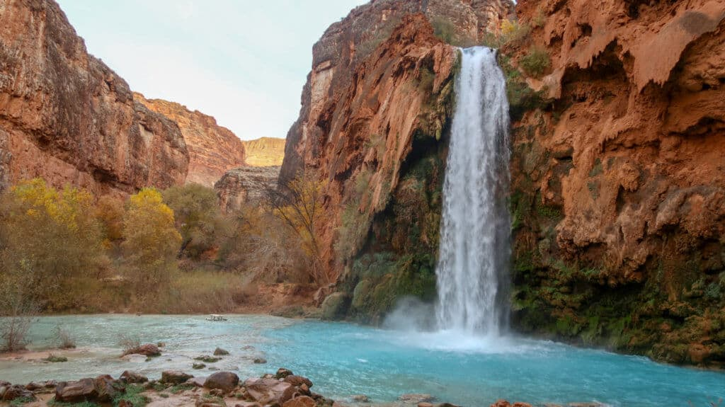 A shot of Havasu Falls in Arizona