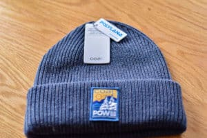 The COAL POW beanie from the December 2018 Cairn box.