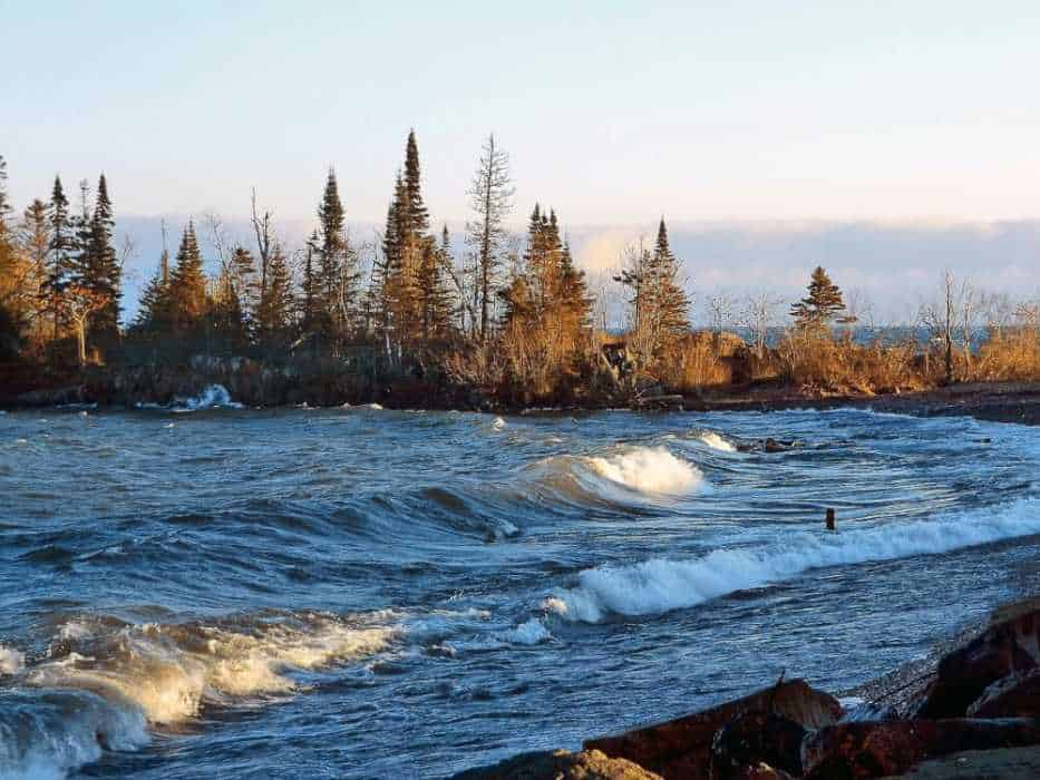 Choppy waters of Lake Superior near Grand Marais