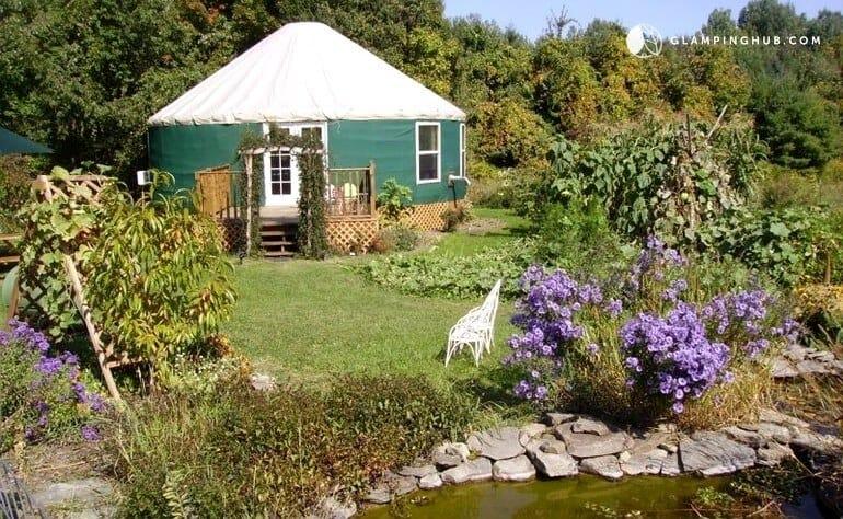 Yurt Rental in Newfield, New York