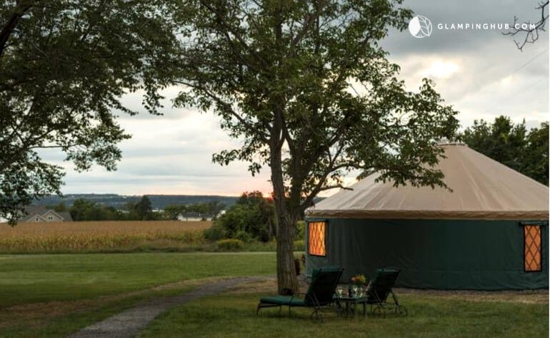 A New York yurt near Cayuga Lake, NY