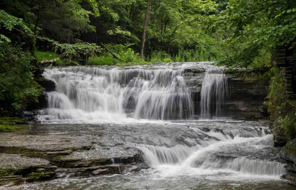 A waterfall in Robert Treman State Park on the Finger Lakes Trail