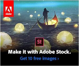 Adobe Stock banner ad