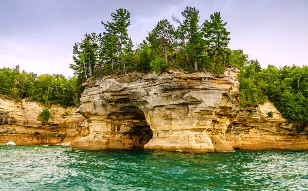 A cool rock formation at Pictured Rocks National Lakeshore in Michigan
