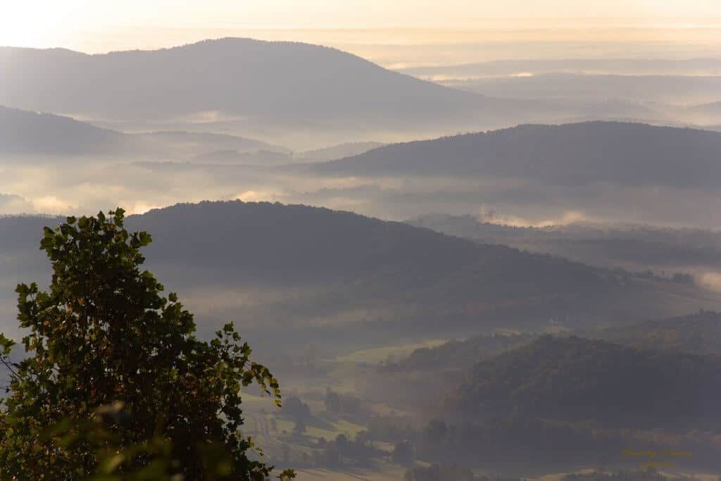 A long view of the Blue Ridge Mountains