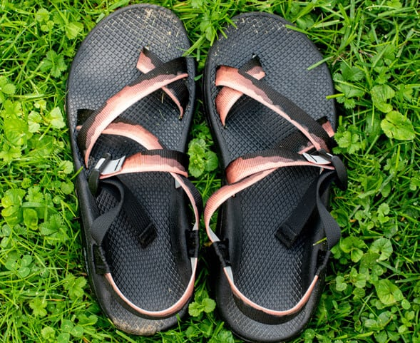 Chaco sandals with a Grand Canyon design.