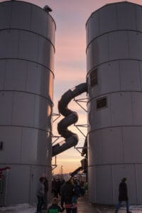 Twin Silo Park twisty slide - Fort Collins, Colorado