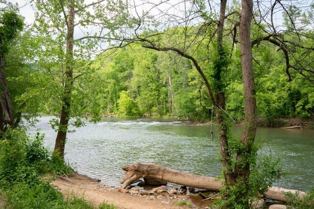 The Roanoke River at Explore Park in Roanoke, VA