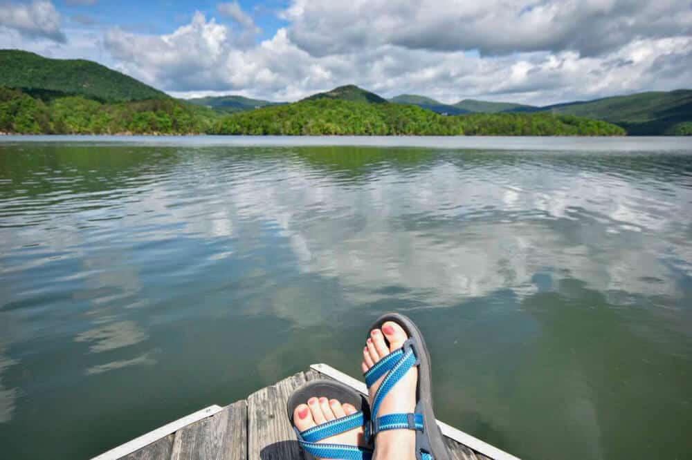 Carvins Cove Reservoir in Roanoke, Virginia