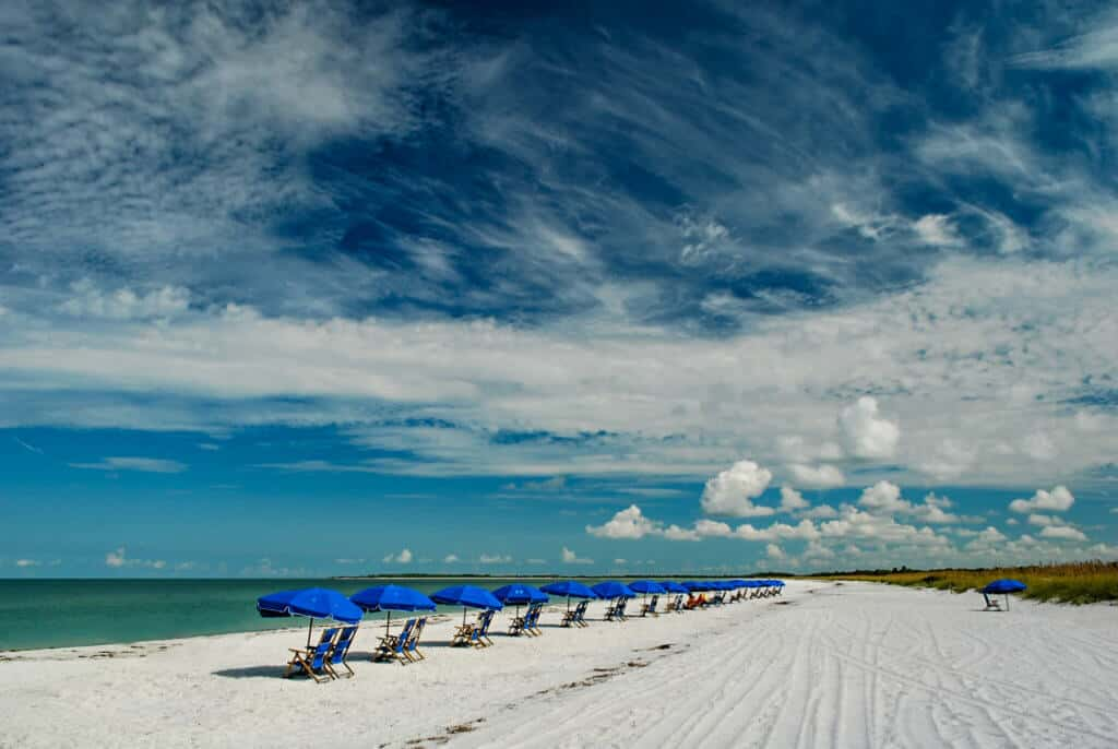 A sandy expanse of secluded beach at Caladesi Island State Park in Florida. Photo credit Eric C. Gutierrez