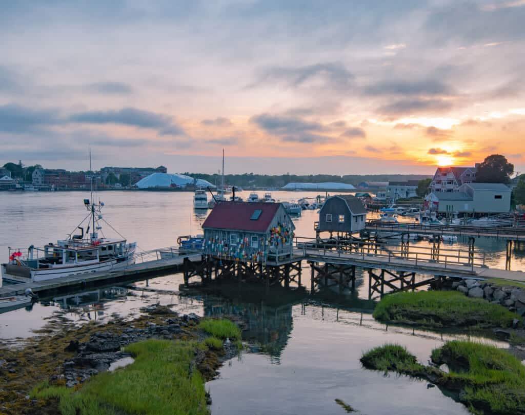 Badger Island sunset