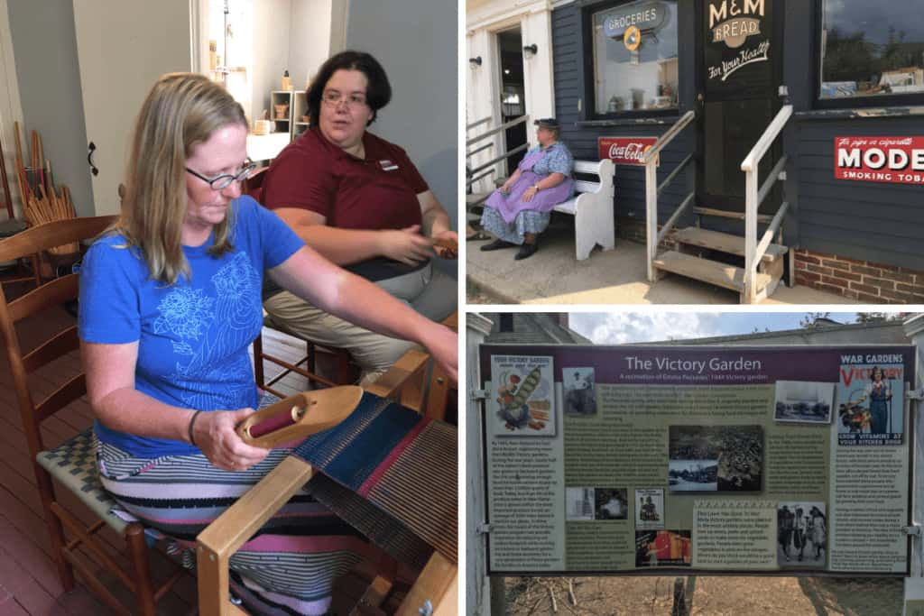 A collage of photos from Strawbery Banke Museum in Portsmouth, NH.