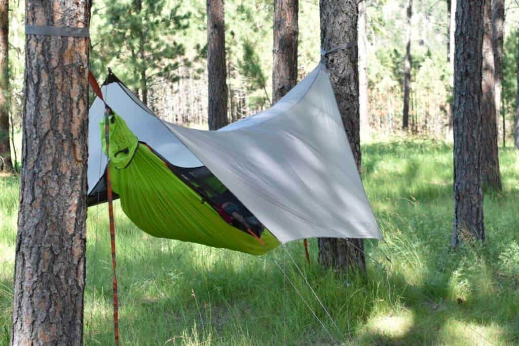 The Kammok Mantis all-in-one camping hammock.