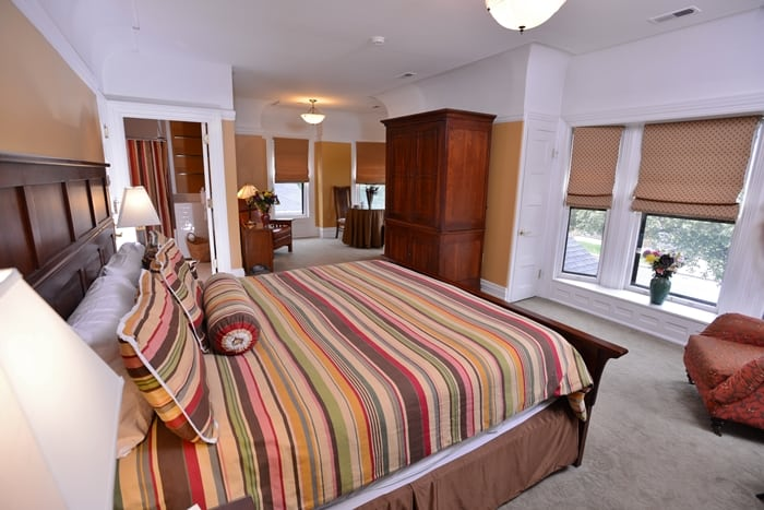 An inside look at one of the rooms at the Inn on Ferry Street.