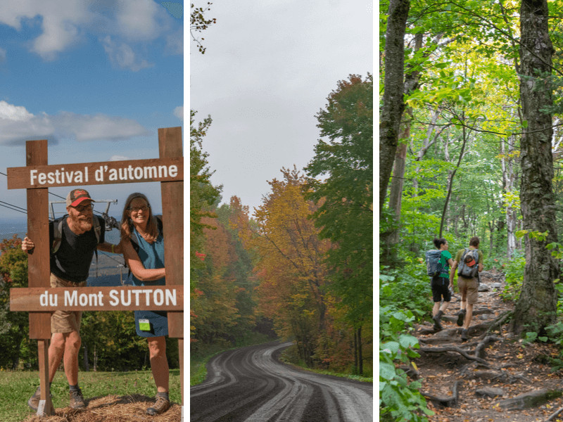 A collage of fall photos taken in the Eastern Townships of Quebec.