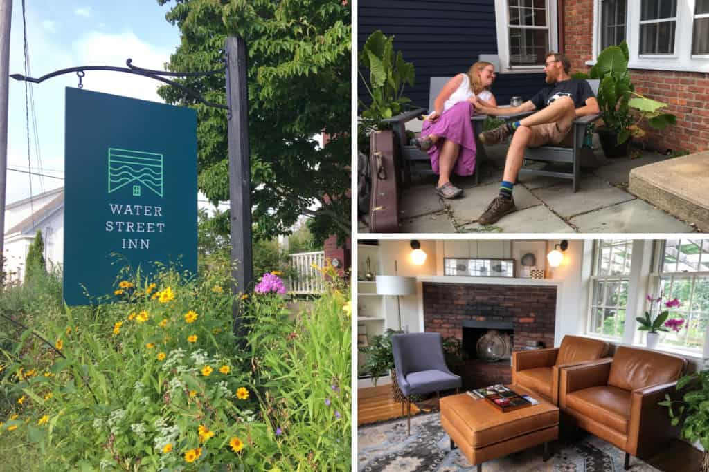 A collage of photos from the Water Street Inn in Kittery, Maine, one of the best small hotels in New England.