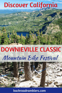 A collage of photos from the Downieville Mountain Bike Festival in California.