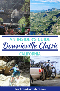 A collage of Mountain bike photos for the Downieville Classic in California