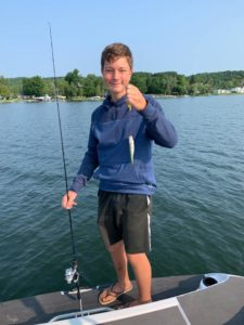 Fishing on Lake Leelanau Michigan
