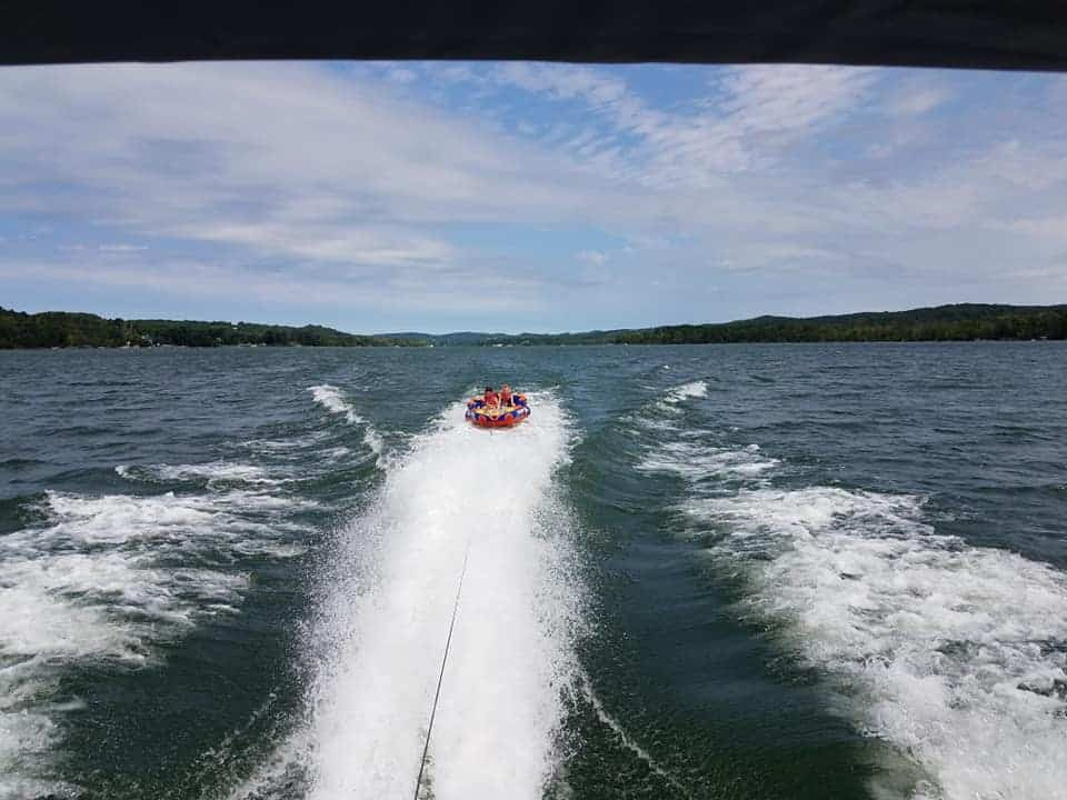 tubing on Lake Leelanau MI