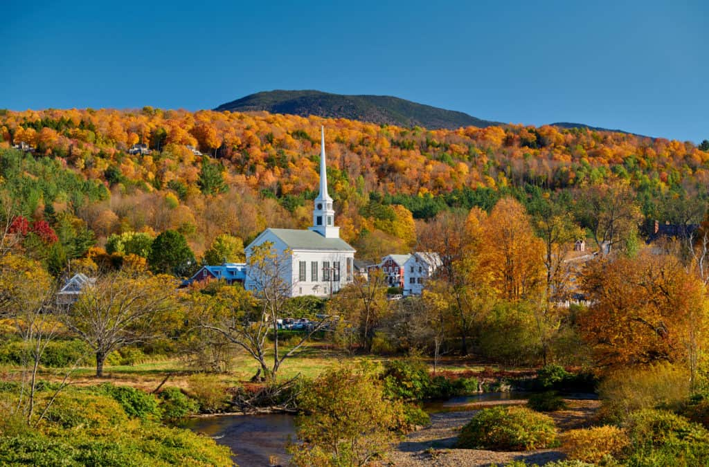 Stowe, Vermont during Autumn