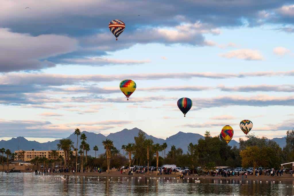 The Havasu Balloon Festival and Fair in Lake Havasu City, AZ.