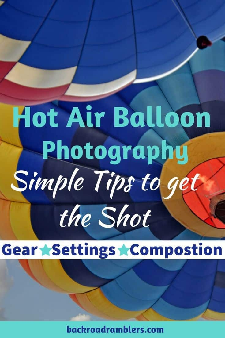 An abstract shot of a hot air balloon festival. Caption reads: Hot air balloon photography. Simple tips to get the Shot.