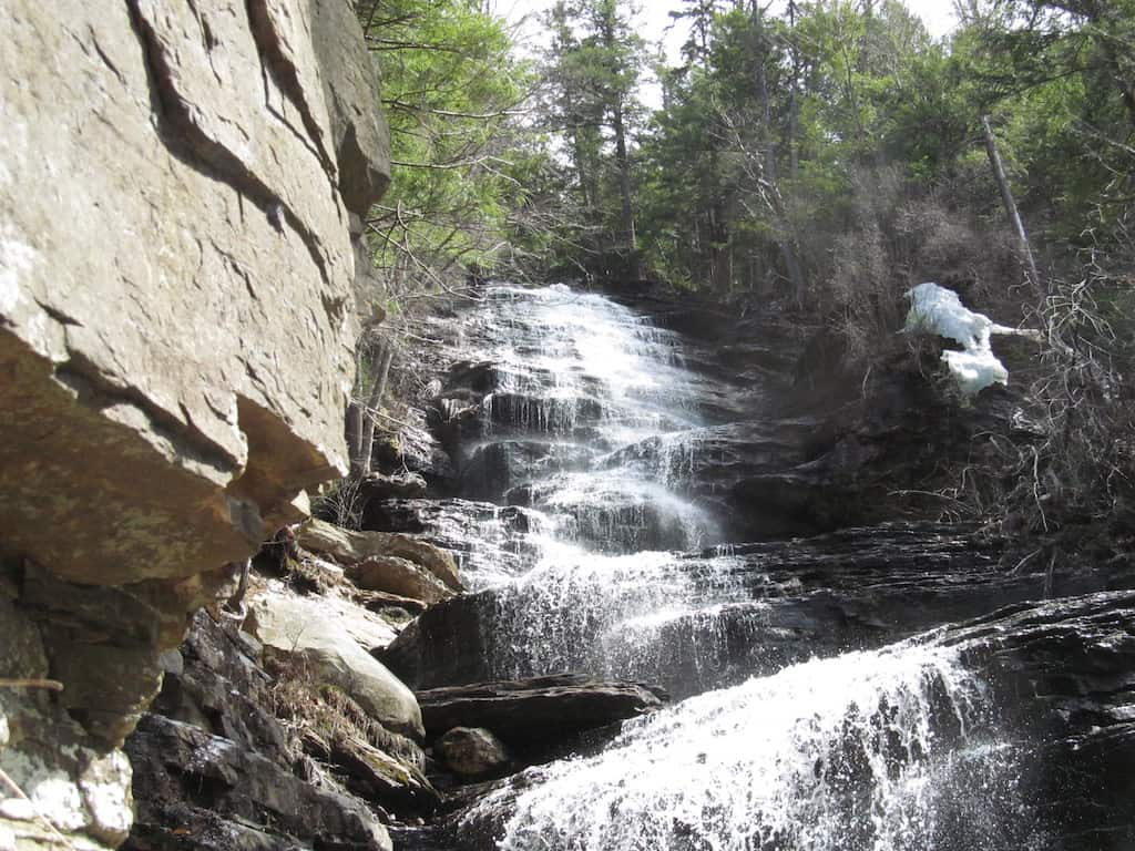 Lye Brook Falls in Manchester, Vermont