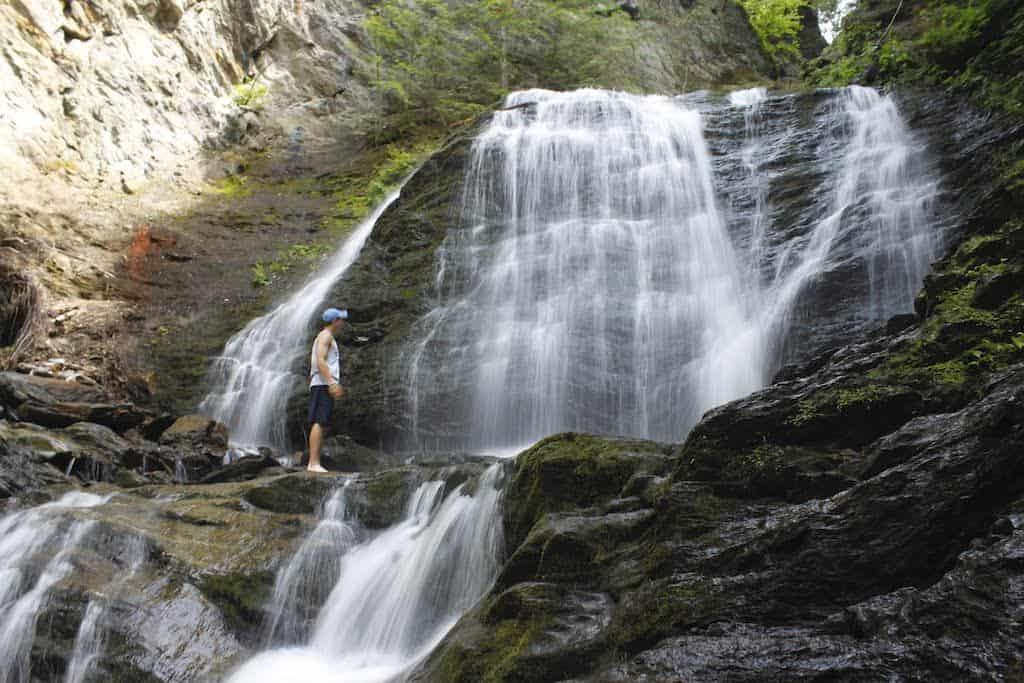 Moss Glen Falls in Stowe, Vermont