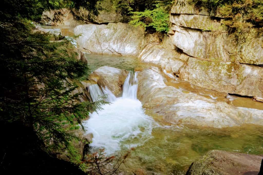 Warren Falls in Warren, Vermont