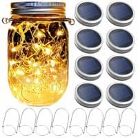 Mason Jar Solar Lantern Lights (8 Pack)