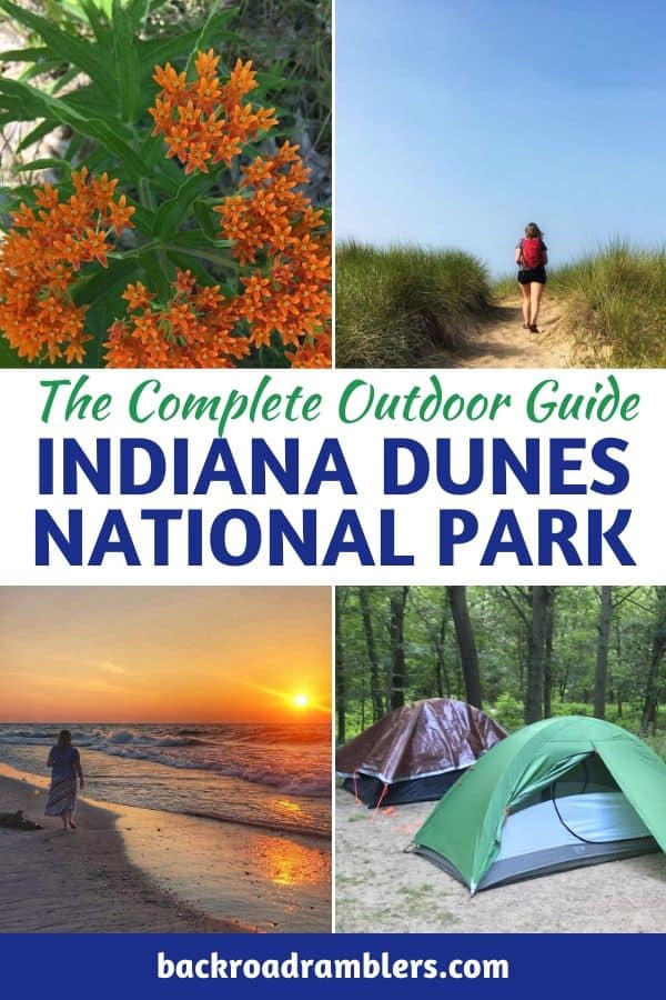 A collage of photos from Indiana Dunes. Caption reads: The Complete Outdoor Guide to Indiana Dunes National Park