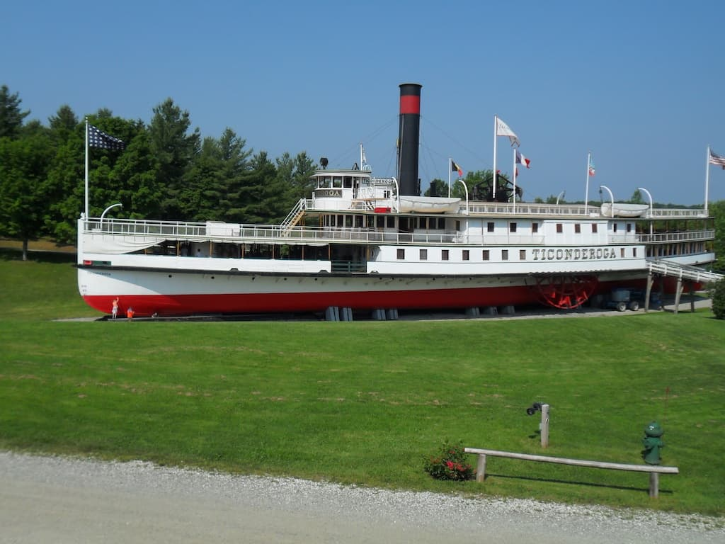 The steamboat Ticonderoga at the Shelburne Museum in Vermont.