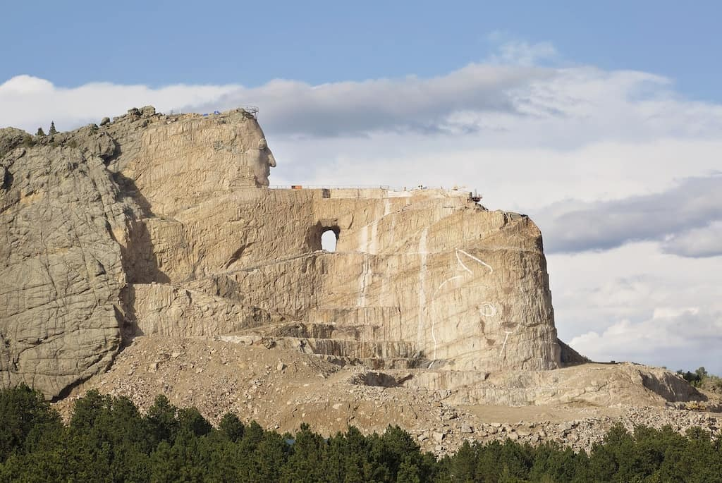 Crazy Horse Memorial in the Black Hills
