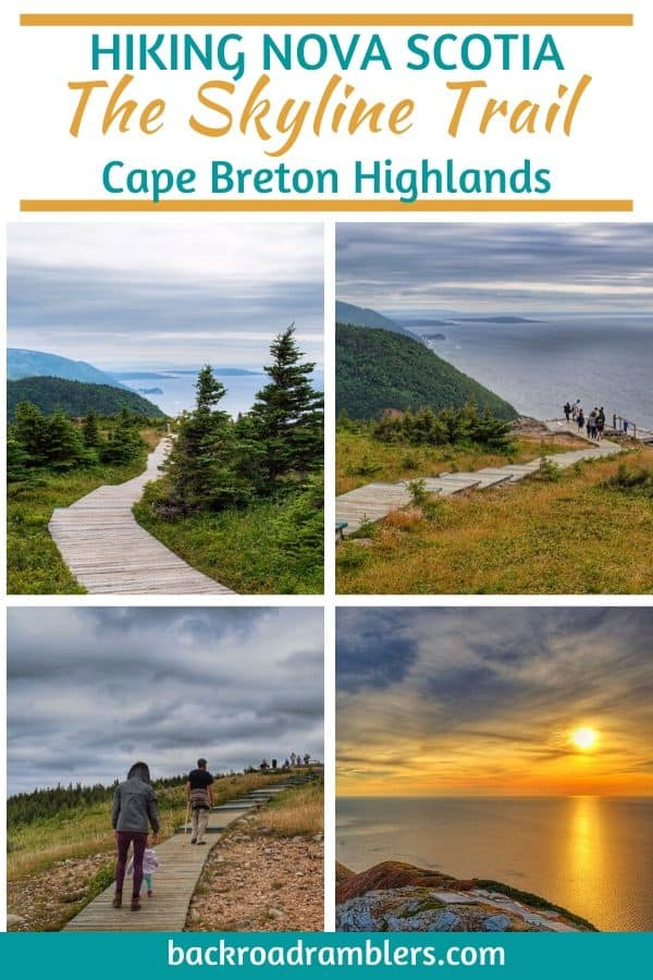 A collage of photos from Nova Scotia.