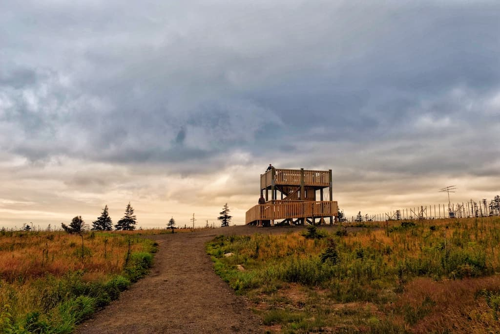 The lookout tower off the Skyline Trail on Cape Breton Island