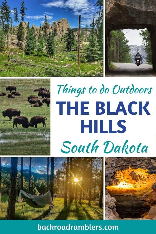 A collage of photos from the Black Hills of South dakota.