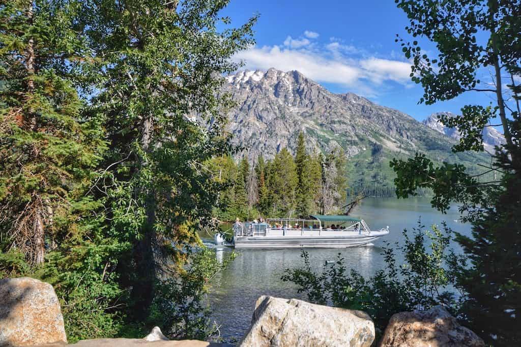 The shuttle service across Jenny Lake in Grand Teton National Park