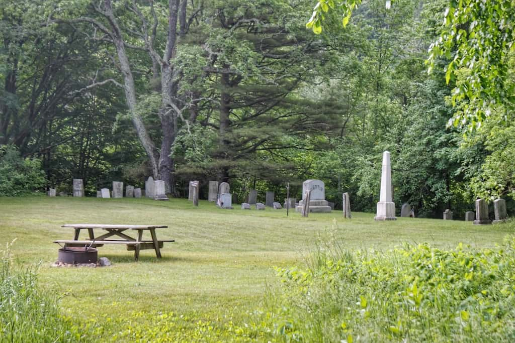 The North Dorset Cemetery in Emerald Lake State Park in Vermont