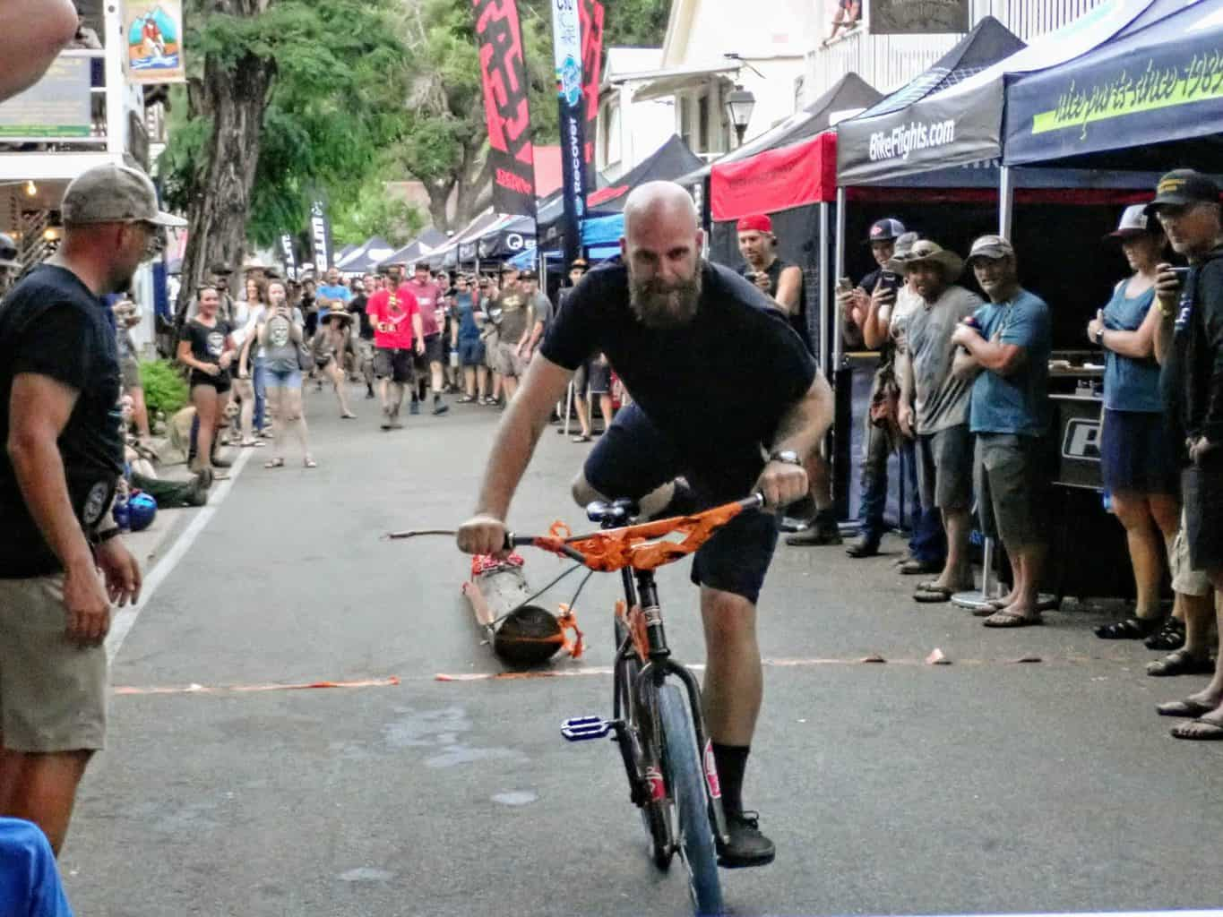 The log pull at the Downieville Classic in California
