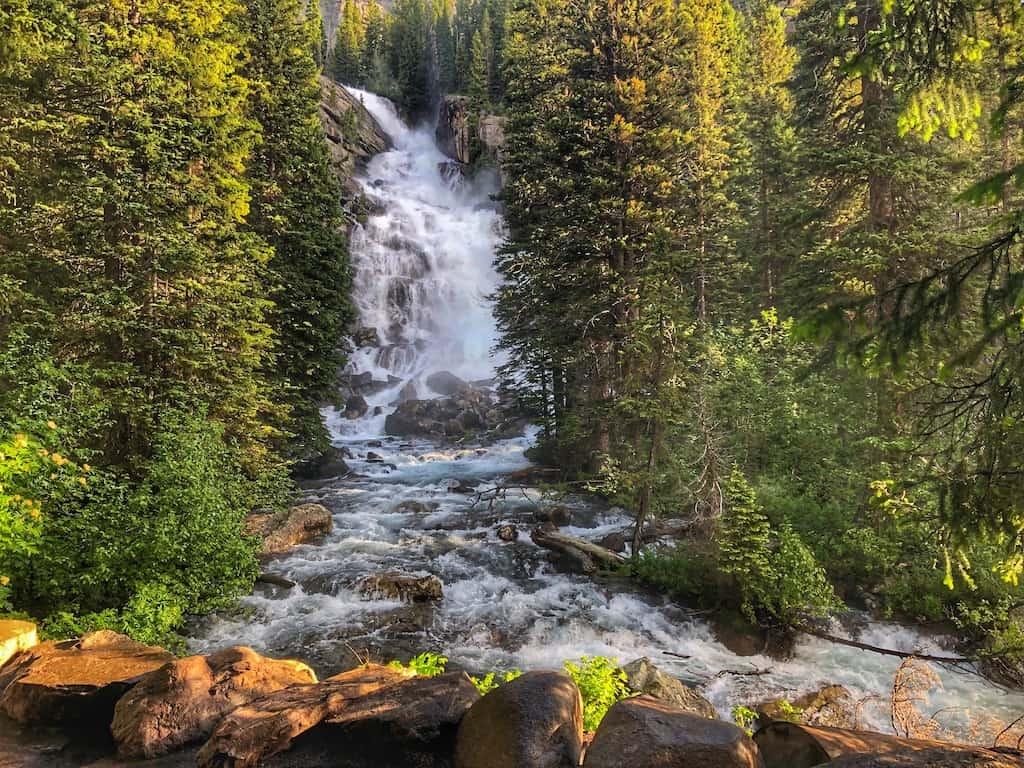 Hidden Falls in Grand Teton National Park