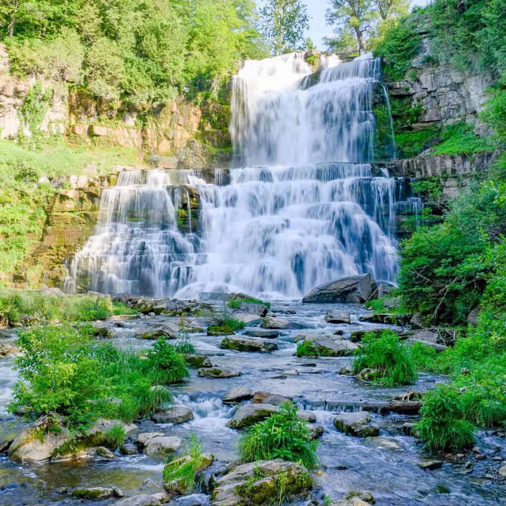 Chittenango Falls in Cazenovia, New York