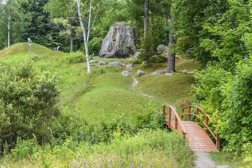 The Japanese Garden in Taconic Mountains Ramble State Park in Vermont