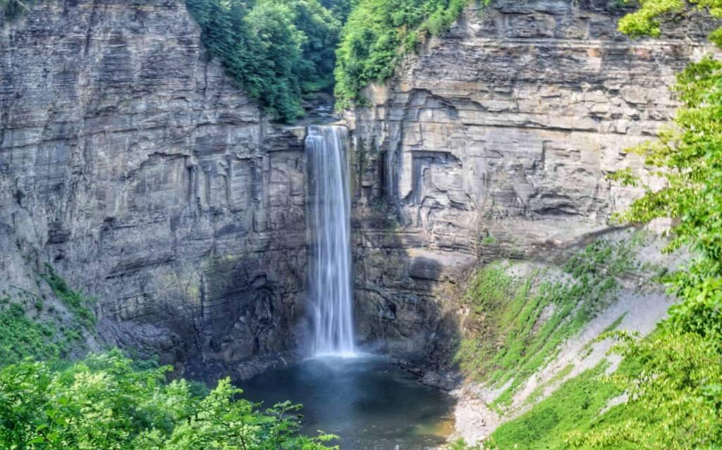 The beautiful Taughannock Falls in Trumansburg, New York.