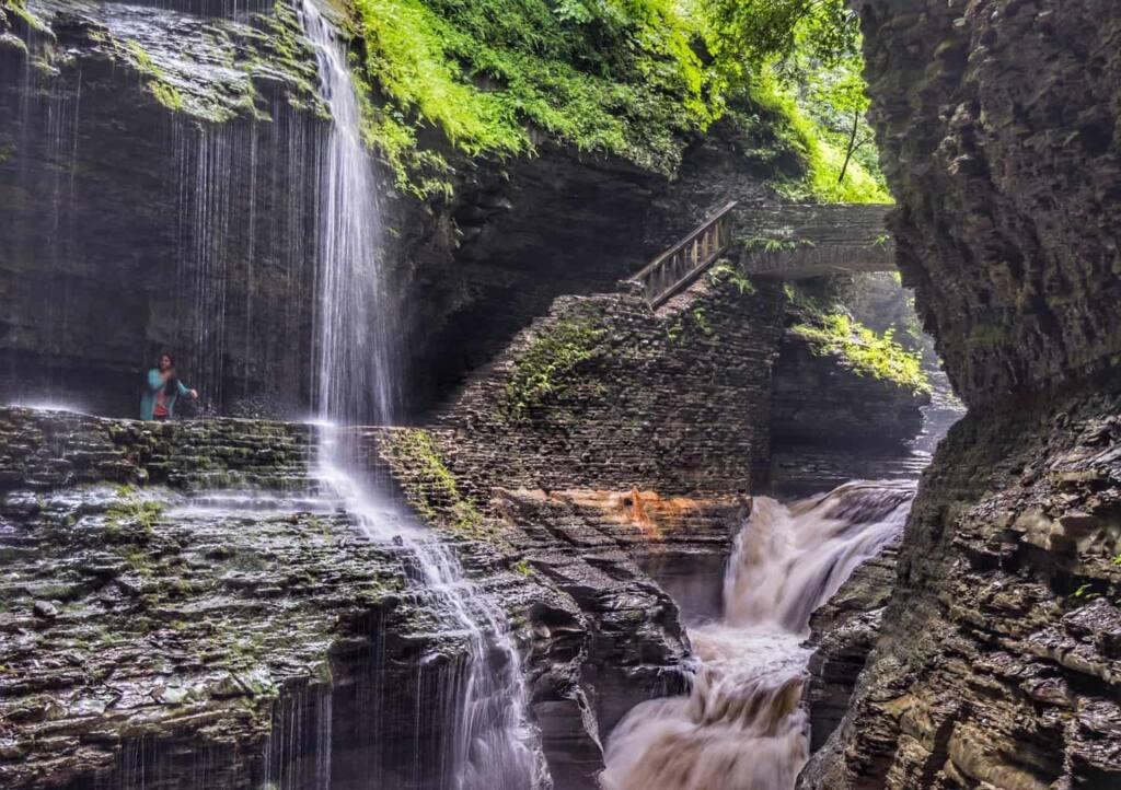 One of 19 waterfalls in Watkins Glen State Park