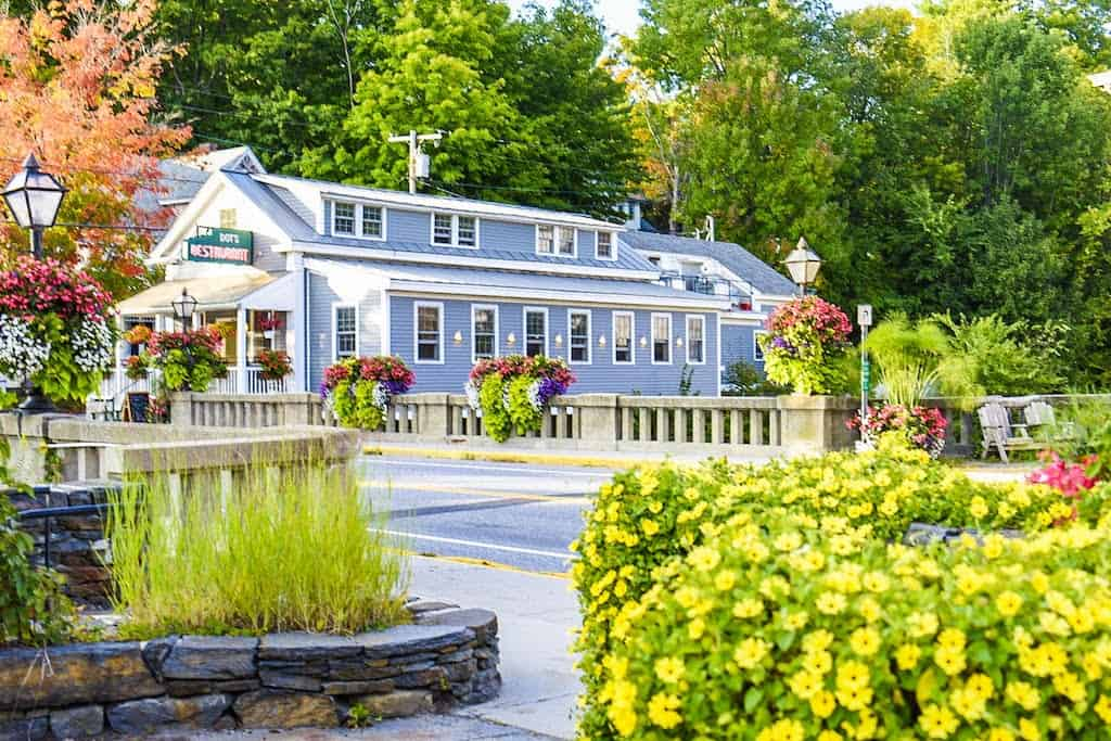 A summer view of Dot's Restaurant in Wilmington, VT