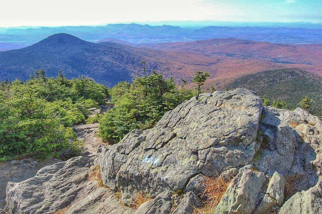 A view of the Green Mountains from the Long Trail in Killington, Vermont